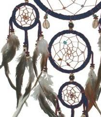 Dreamcatcher | multi 5 | Crystals - Black 12cm