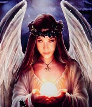 lareinase anne stokes art tile yule angel medium