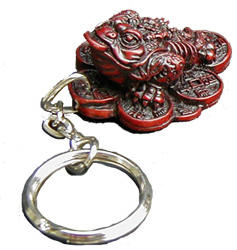 Three-legged Toad | keychain | shou shen - richness