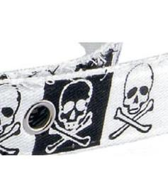 Fantasy Textil Belt - white scull