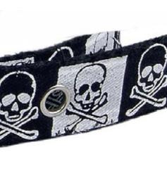 Fantasy Textil Belt - black scull
