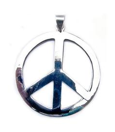 Silver Pendant | Peace 40mm
