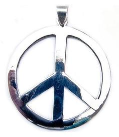 Silver Pendant | Peace 50mm