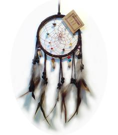 Dreamcatcher | Crystals - Brown 12cm