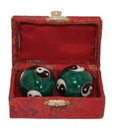 Baoding Balls - Yin & Yang Green 35mm