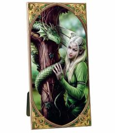 Anne Stokes | Art Tile - Kindred Spirits, medium