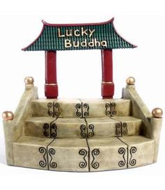 Happy Buddha | green | display - Temple