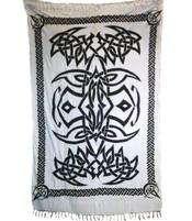 Sarong Celtic Tribal - White