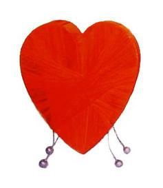 Lamp | Heart - Orangered
