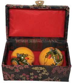 Baoding Balls - Dragon, handpainted 45mm