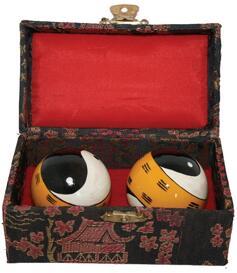Baoding Balls - Yin Yang, Handpainted 45mm
