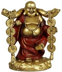 Happy Buddha | Golden - Lucky Coins, 13