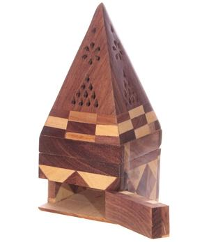 Incense holder | Wood Box - Pyramid