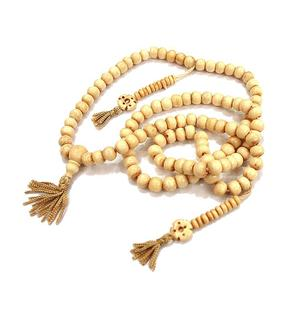 Buddhist mala | prayer beads - bone white
