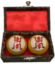 Baoding Balls - Longevity - Yellow, 45mm