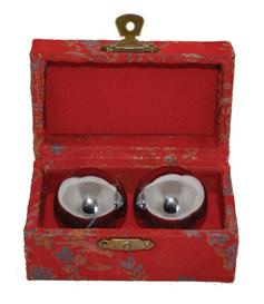 Baoding Balls - Metallic Silver, 44mm