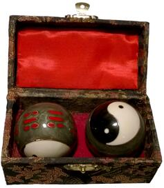 Baoding Balls - Yin Yang I Ging, Grey 45mm