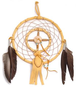 Navajo Dreamcatcher by Curtis Bitsui - Medicine Wheel n' Bag, 16cm