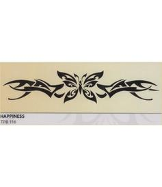 Tribal tattoo | temporary | Happiness