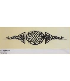 Tribal tattoo | temporary | Strength