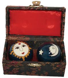 Baoding Balls - Sun & Moon, Blue 45mm