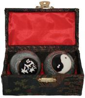Baoding Balls - Yin Yang Grey 40mm