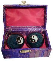 Baoding Balls - Yin Yang Blue Multi 40mm