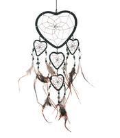 Dreamcatcher Multi 5 Heart - Black 12cm