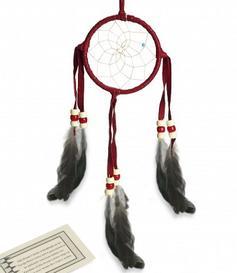 Navajo Dreamcatcher - red, 8cm