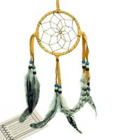 Navajo Dreamcatcher - light tan, 8cm