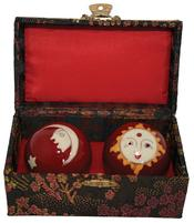 Baoding Balls - Sun & Moon Red 40mm