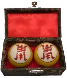 Baoding Balls - Longevity - Yellow, 45mm