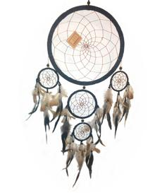 Dreamcatcher Multi 5 - Black 25cm