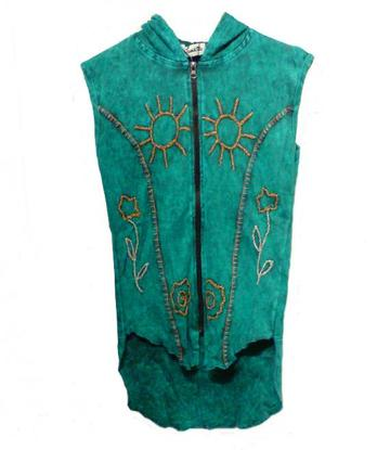 Vest hoodie | unity - turquoise