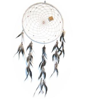 Dreamcatcher JUMBO Crystals - White 42cm