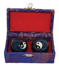 Baoding Balls - Yin & Yang Blue 35mm