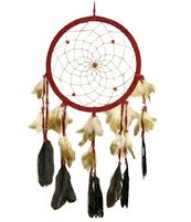 Dreamcatcher Pearls - Red 20cm
