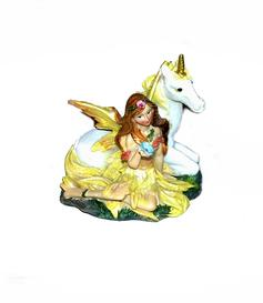 Fairy with Unicorn - Yellow
