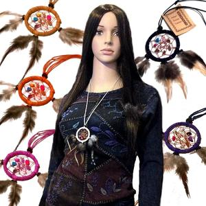 Dreamcatcher Necklace - Crystals 5cm